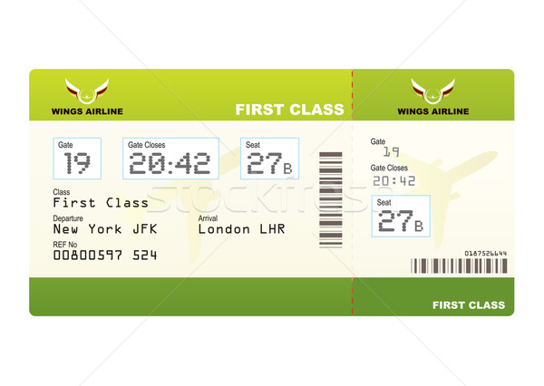 Plane ticket first class green Stock photo © nicemonkey