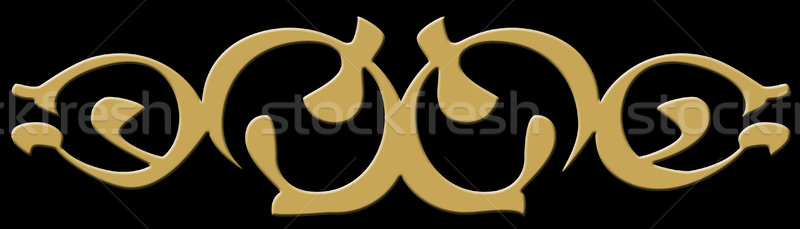 Tribal abstract gold Stock photo © nicemonkey