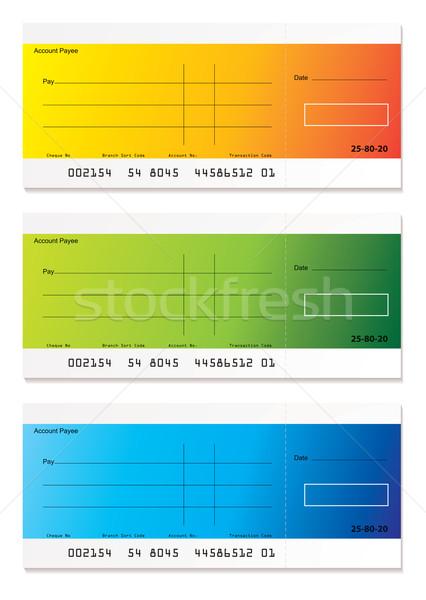 Nowoczesne płatność czek kolorowy sprawdzić pokój Zdjęcia stock © nicemonkey