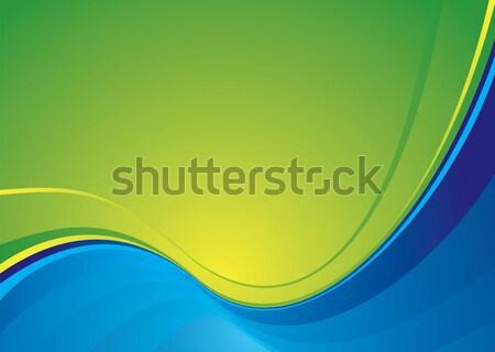 Klasse Farben blau grünen Design Hintergrund Stock foto © nicemonkey