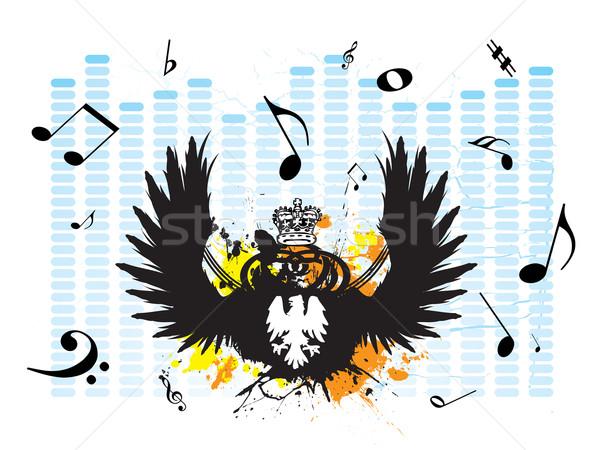 Zene musical teremtés grafikus fedett hangjegyek Stock fotó © nicemonkey