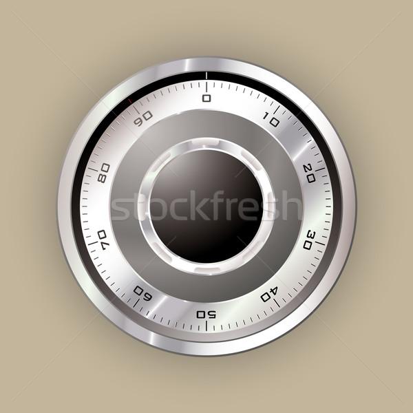 безопасной набирать номер безопасного серебро металл веб Сток-фото © nicemonkey
