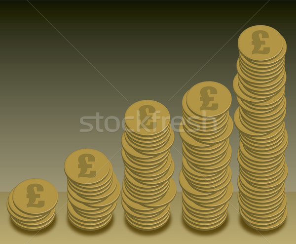 coins graph pound Stock photo © nicemonkey
