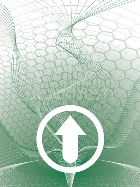 дельта стрелка зеленый аннотация белый Сток-фото © nicemonkey