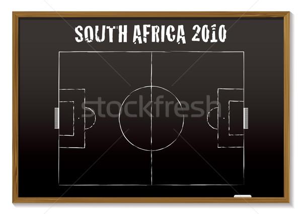 Voetbal Blackboard South Africa 2010 voetbal spel Stockfoto © nicemonkey