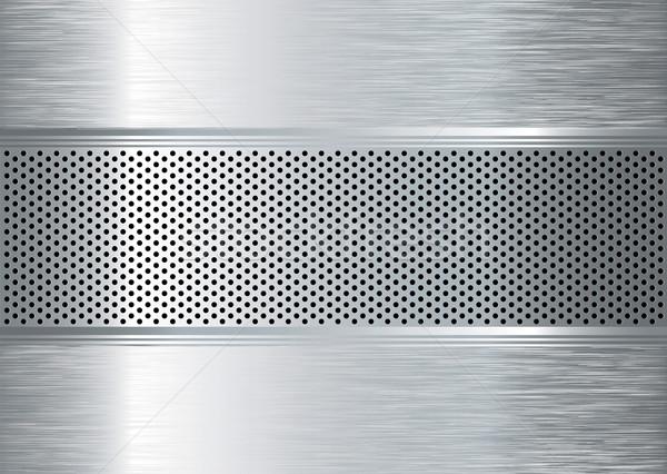 Métal argent résumé perforé texture fond Photo stock © nicemonkey