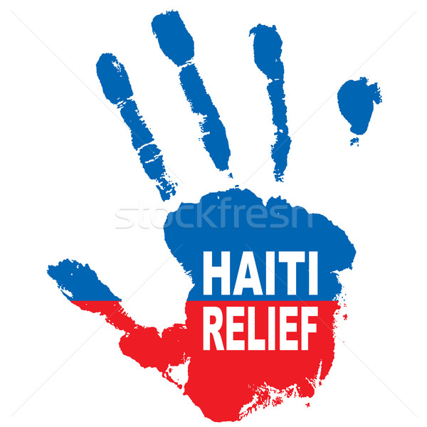 Haïti main grunge encre couleurs pavillon Photo stock © nicemonkey