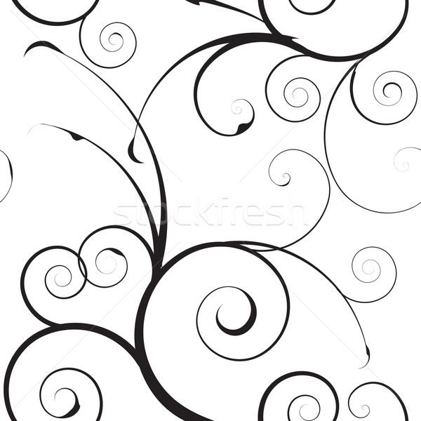 einfache muster schwarz wei hintergrund blatt vektor grafiken michael travers. Black Bedroom Furniture Sets. Home Design Ideas