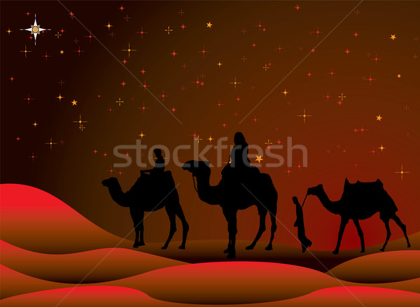 christmas journey Stock photo © nicemonkey