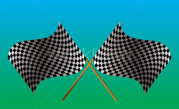 crossed checkered flag Stock photo © nicemonkey
