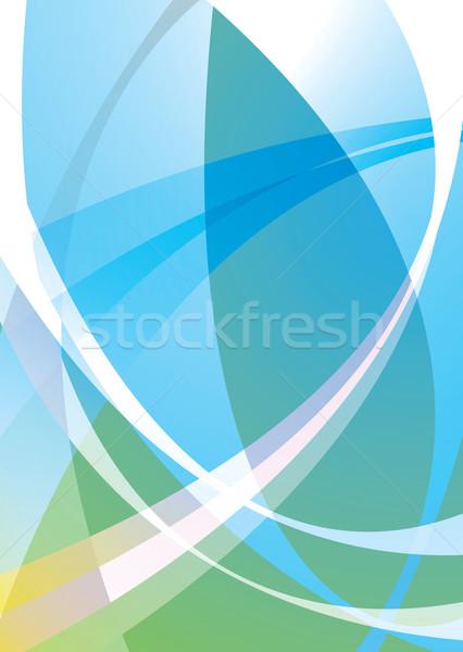 Stock photo: subtle pastel overlap