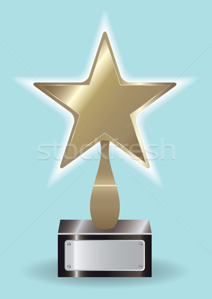 Stock photo: Bronze star Award ytophy