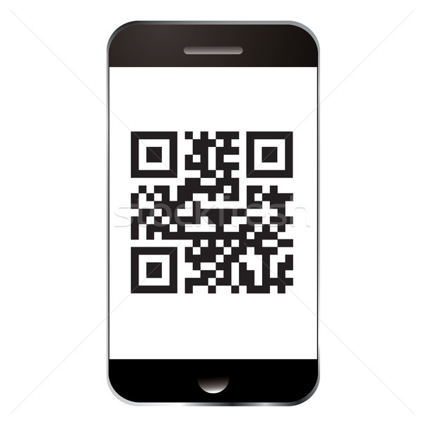 Smart phone qr Stock photo © nicemonkey