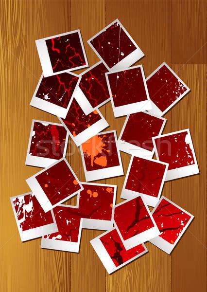 Polaroid quebra-cabeça abstrato coleção nosso Foto stock © nicemonkey
