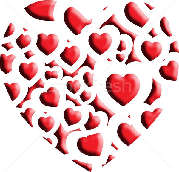 heart shape bevel Stock photo © nicemonkey