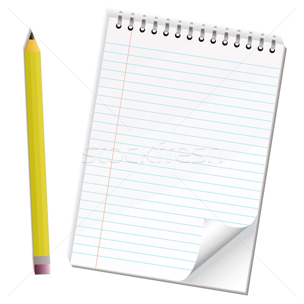 note paper pencil Stock photo © nicemonkey
