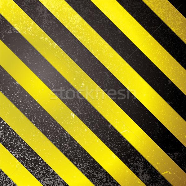 Waarschuwing grunge streep vierkante abstract ontwerp Stockfoto © nicemonkey