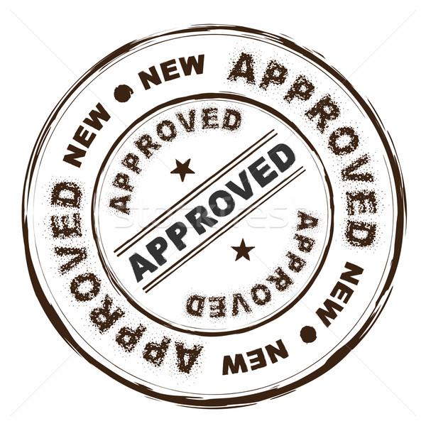 Approvato inchiostro timbro grunge testo Foto d'archivio © nicemonkey