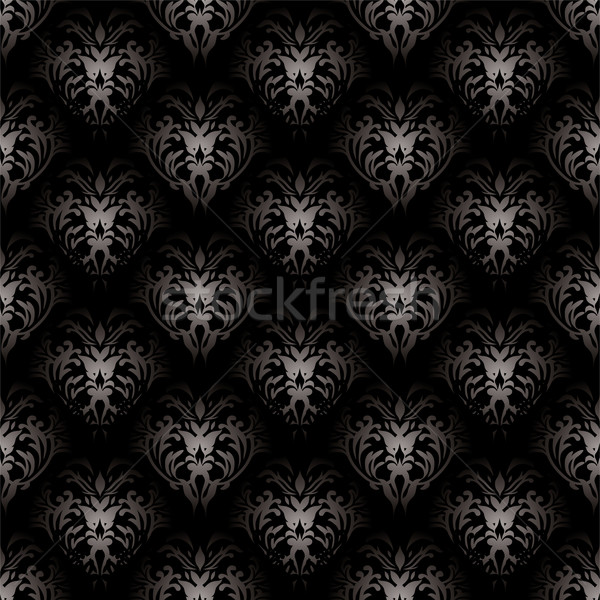 floral gothic black Stock photo © nicemonkey