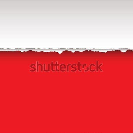 Rood scheur papier pagina schaduw textuur Stockfoto © nicemonkey