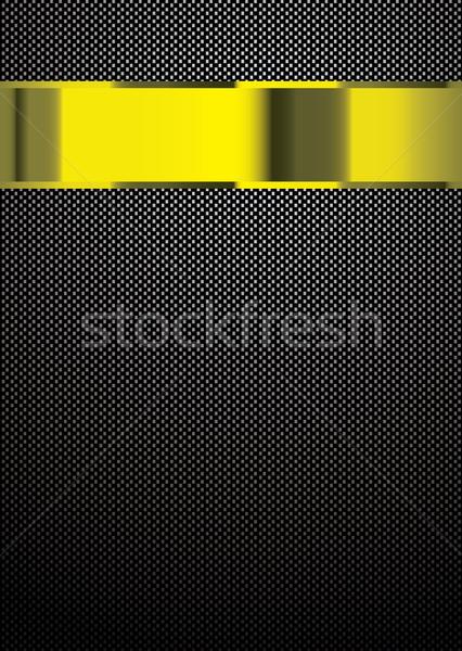 Photo stock: Fibre · de · carbone · or · modèle · bannière · travaux · technologie
