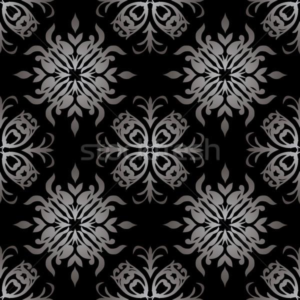 Gothic wallpaper stile bianco nero senza soluzione di continuità illustrato Foto d'archivio © nicemonkey