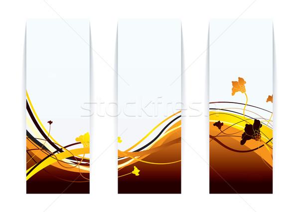 Virágmintás tűz papír modern fényes narancs Stock fotó © nicemonkey