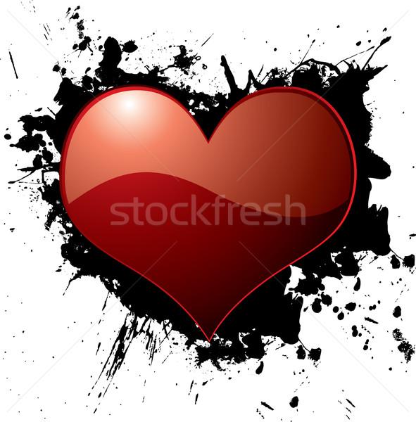 heart ink splat Stock photo © nicemonkey