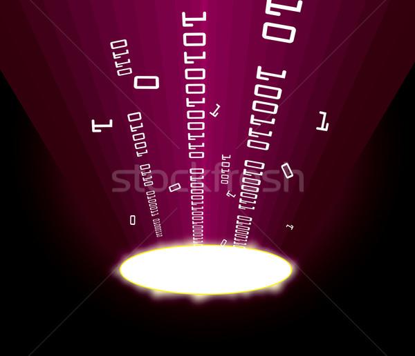 Stock fotó: Információ · porta · mutat · internet · absztrakt · fény