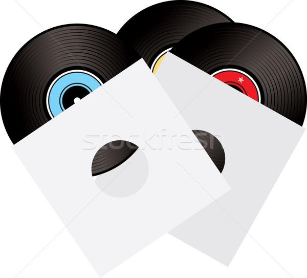 レコード スリーブ 図示した 3  レコード パーティ ストックフォト © nicemonkey