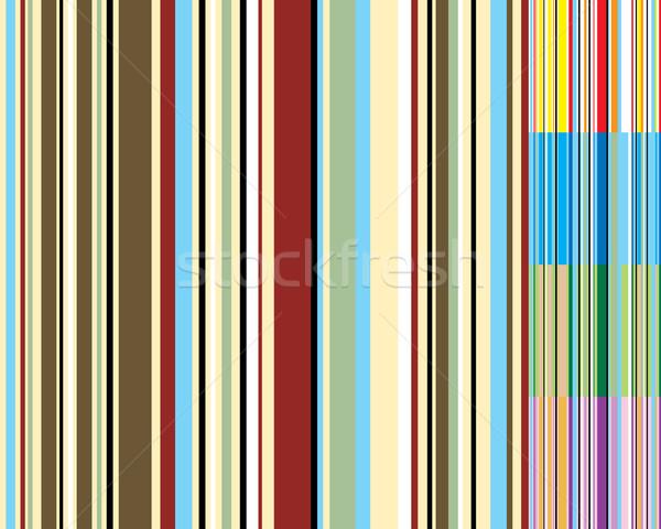 Stripe variation résumé années soixante-dix wallpaper design Photo stock © nicemonkey