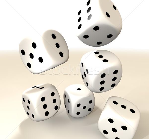 six white casino dice Stock photo © nicemonkey