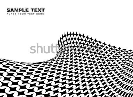 Półtonów fali streszczenie czarno białe pokój własny Zdjęcia stock © nicemonkey