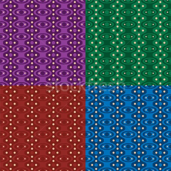 Zeventig ruimte abstract behang ontwerp variëteit Stockfoto © nicemonkey