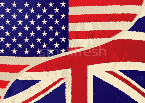usa british grunge flag Stock photo © nicemonkey