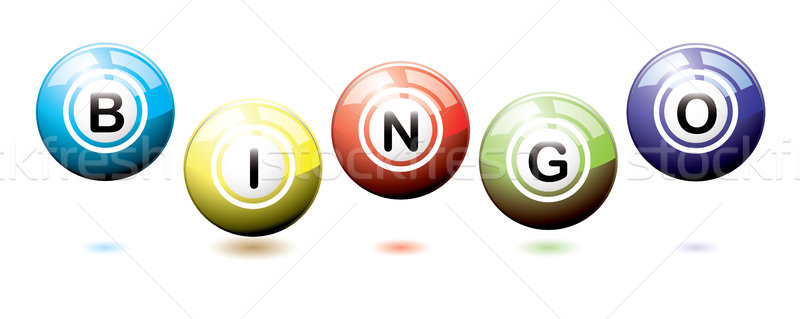 Bingo balls bounce Stock photo © nicemonkey