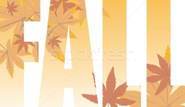 fall text Stock photo © nicemonkey