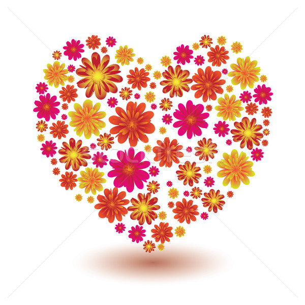 floral heart shape Stock photo © nicemonkey