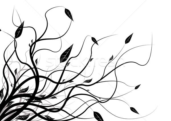 Siluet soyut siyah beyaz bo dizayn Stok fotoğraf © nicemonkey