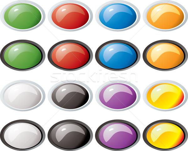 glass buttons rim oval Stock photo © nicemonkey