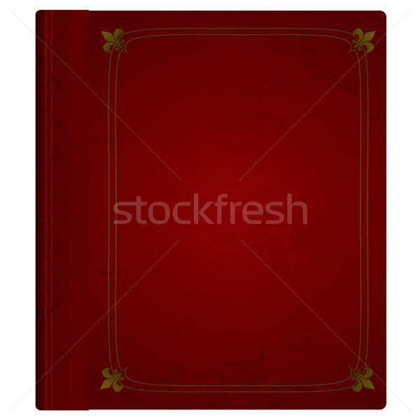 Bőr könyv gesztenyebarna borító arany elegáns Stock fotó © nicemonkey
