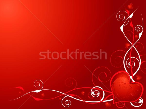 Szeretet szív absztrakt illusztráció piros gesztenyebarna Stock fotó © nicemonkey
