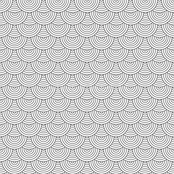 Siebziger Kreis Wiederholung Tapete Design Stock foto © nicemonkey