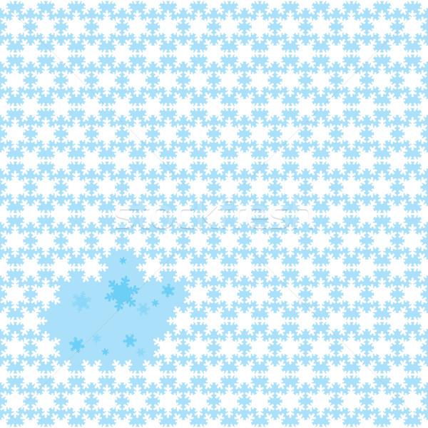 снежинка повторять аннотация бесшовный Рождества снега Сток-фото © nicemonkey