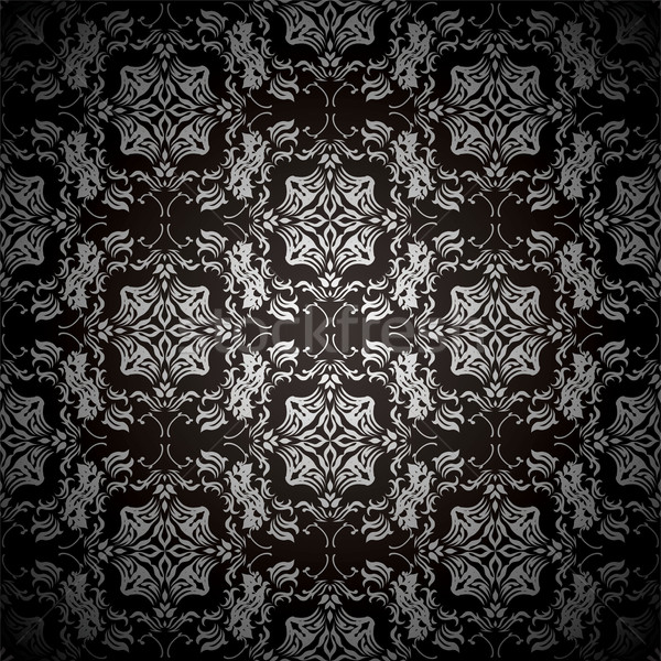 black floral repeat Stock photo © nicemonkey
