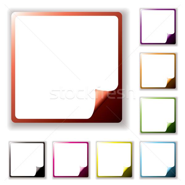 button page peel Stock photo © nicemonkey
