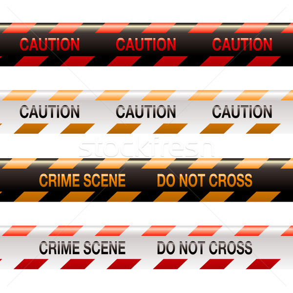 crime scene tape modern Stock photo © nicemonkey