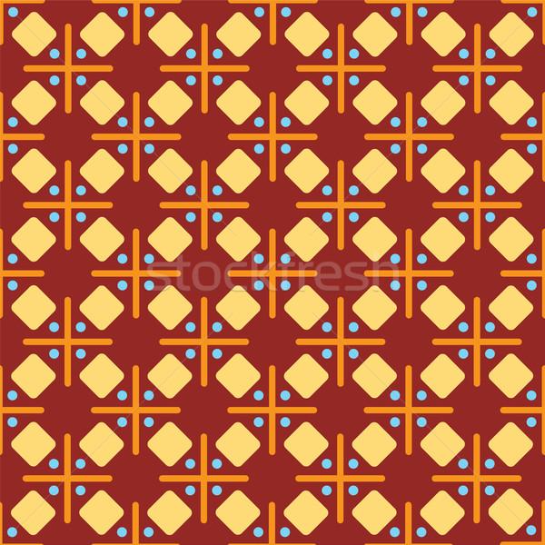 Abstract zeventig kruis stijl behang ontwerp Stockfoto © nicemonkey