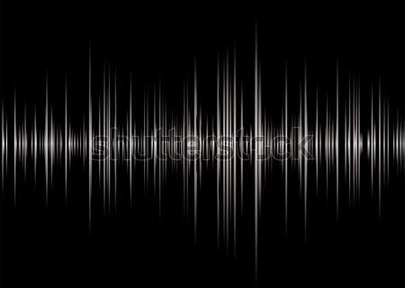 Alfa preto prata gráfico música ler Foto stock © nicemonkey