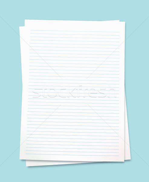 Fehér levélpapír tiszta papír szoba saját Stock fotó © nicemonkey